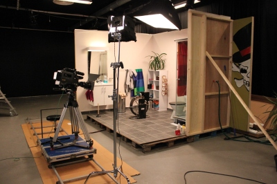 Black box-en er rigget og klar til innspilling av en reklamefilm.